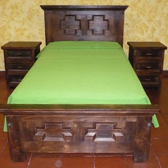 Muebles Rústicos La Cabaña Alcoba Cruz