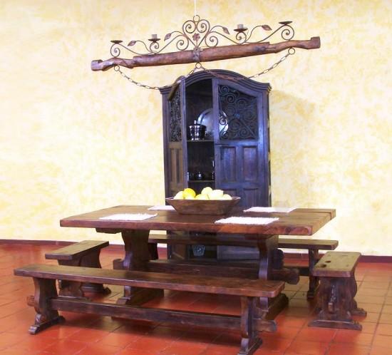 Muebles Rústicos La Cabaña Comedor Odiseo