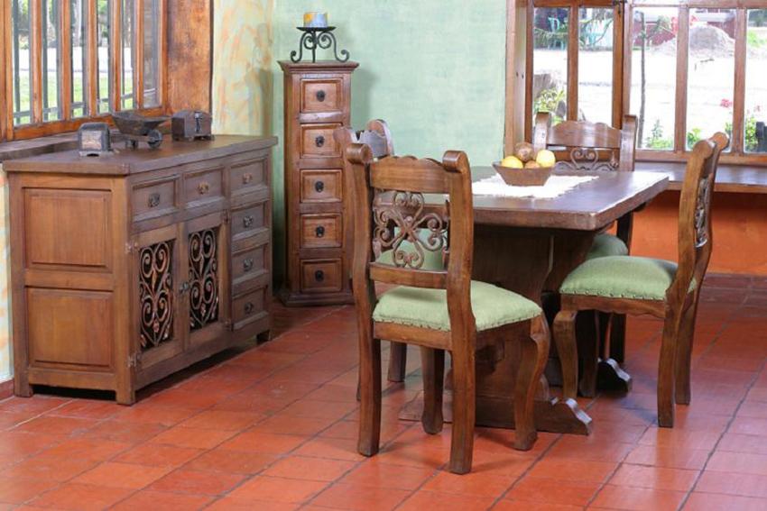 Muebles r sticos la caba a comedores for Muebles vanitorios rusticos