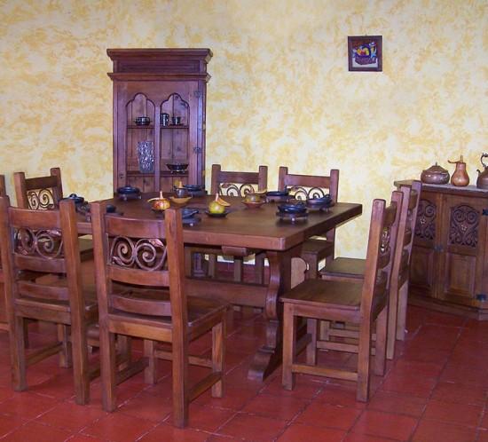 Muebles Rústicos La Cabaña Comedor Polo