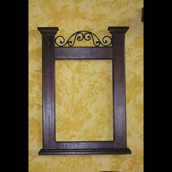 Muebles Rústicos La Cabaña Espejo Corona