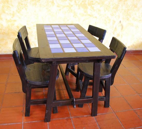 Muebles Rústicos La Cabaña Comedor Azulejos