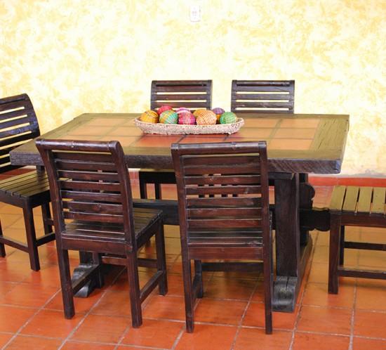 Muebles Rústicos La Cabaña Comedor Barequ