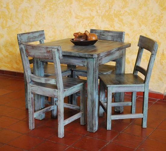Muebles Rústicos La Cabaña Comedor Verde
