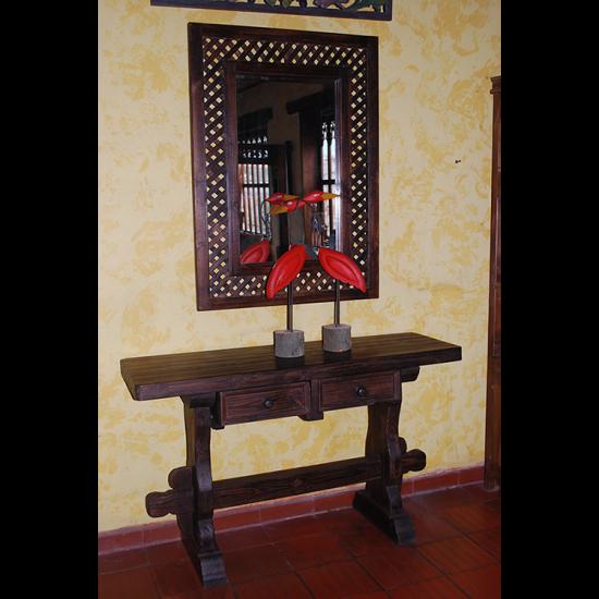 Muebles Rústicos La Cabaña Consola Espejo